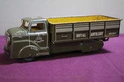 Tin Plate Royal Artillery Truck In Original Condition #