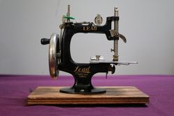 Lead Sewing Machine With Oak Case