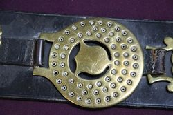 Set Of 3 Horse Brasses On Leather Strap