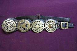 Set Of 4 Horse Brasses On Leather Strap