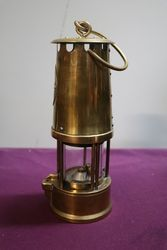 Eccles Protector Type 6 All Brass Miners Lamp