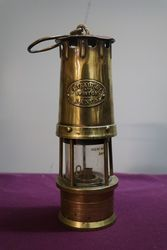 W.E.Teale Swinton All Brass Miners Lamp #