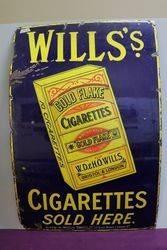 Gold Flake Cigarettes Enamel Advertising Sign #