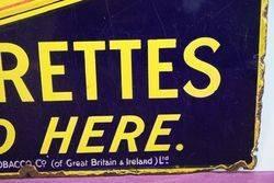 Gold Flake Cigarettes Enamel Advertising Sign