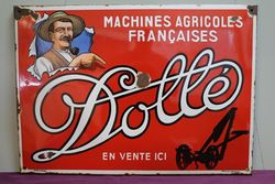 Dolle Machines Agricoles Françaises Enamel Advertising Sign #