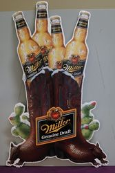 Miller Brewing Tin Advertising Sign #