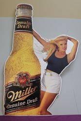 Miller Brewing Tin Advertising Sign #