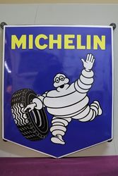 Michelin Shield Enamel Advertising Sign #