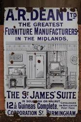 ARDean Furniture Enamel Advertising Sign