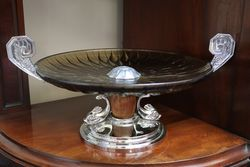 Art Deco Amber Glass Tazza #