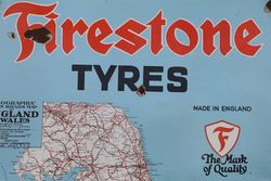 Firestone Tyres Enamel Advertising Sign