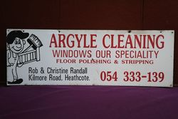 Argyle Cleaning Advertising Sign #