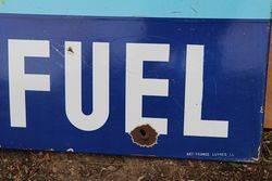 Mobil Depot De Fuel Enamel Advertising Sign