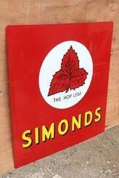 Simonds The Hop Leaf Enamel Advertising Sign