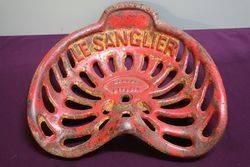 Antique LE SHANGLIER ( BOAR ) Cast Iron Seat.  #