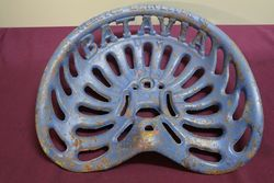 Antique BATAVIC Cast Iron Tractor-Implement Seat.  #