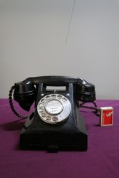 Early C20th Bakelite Pyramid Telephones
