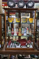 Antique C19th 2 Door Collectors Cabinet