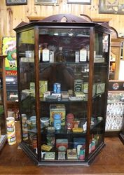 Antique Shop Counter Display Cabinet .