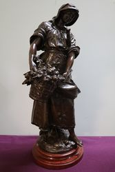 Stunning French Bronzed Spelter Figure by Auguste Moreau
