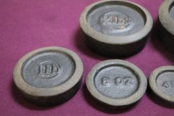Full Set Of 8 Antique Cast Weights