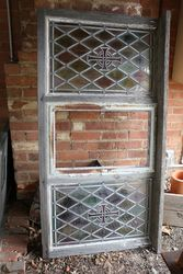 Stained Antique Glass Lead Light Windows & Frame. #