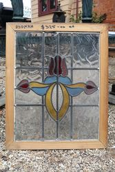 Stained Glass Lead Light Window . Circa 1900.  #