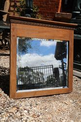 Edwardian Oak Framed Mirror.#