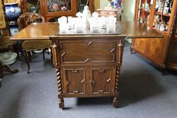 Early C20th Oak Pop Up Drinks Cabinet by Finnigans LTD.#