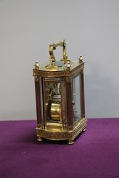 C19th French Brass Carriage Clock With Original Carrying Case