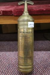 Brass Minimax Hand Pump Fire Extinguisher #