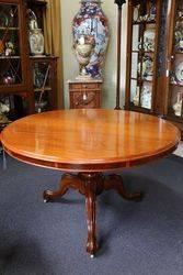 Antique Victorian Round Mahogany Loo Table English C1860#