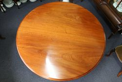 Antique Victorian Round Mahogany Loo Table English C1860