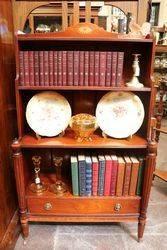 C20th Quality Open Shelf Bookcase. #