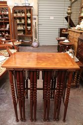 Stunning & Rare Antique 5 Piece Nest of Tables..#