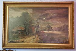 Original Oil Painting By E. Troup 1897 #