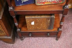 A Early 19th Century George IV Mahogany FourTier Walnut Fitted with a Drawer