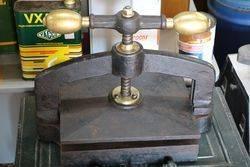 Genuine Antique Brass Mounted Book Press #