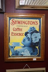 Genuine Symington's Coffee Framed Advertising Card #