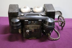 WW2 All Bakelite andquotFandquot MkII Field Telephone