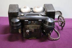 """WW2 All Bakelite """"F"""" MkII Field Telephone #"""