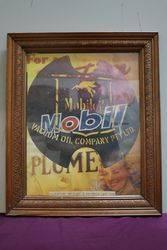 Framed Mobil Vacuum Poster #