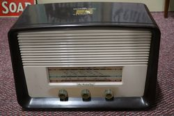 His Masters Voice Brown Bakelite Radio #