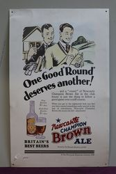 Newcastle Champion Brown Ale Tin Advertising sign #