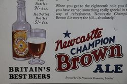 Newcastle Champion Brown Ale Tin Advertising sign
