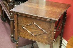 Early 20th Century Oak Barley Twist Sewing Box