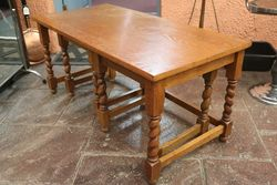 Quality Nest of 3 Oak Barley Twist Tables
