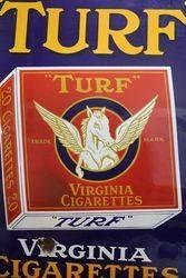 andquotTURFandquot Virginia Cigarettes Enamel Advertising Sign
