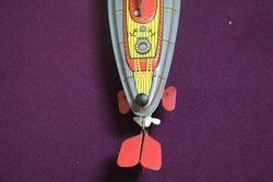 A Clockwork Tinplate Model Of HMS Nautilus Made In Great Britain