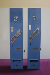 A Pair Of Wall Mounted Vending Machines For Matches + Woodbines Cigarettes #